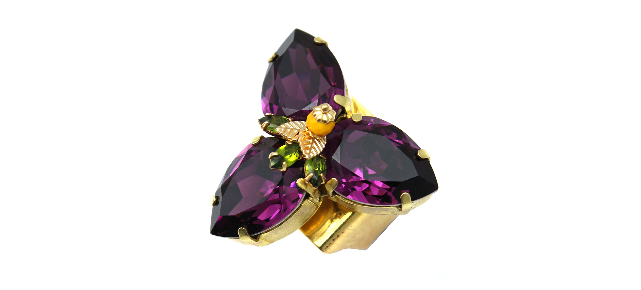 168PL Triple Pear Ring with Figleaf - Purple (2).jpg