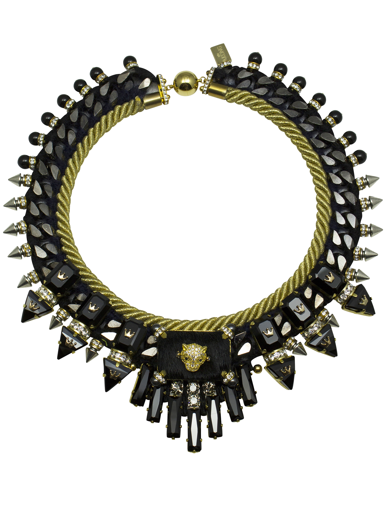 208N Black & Gold Cord Military Necklace.jpg