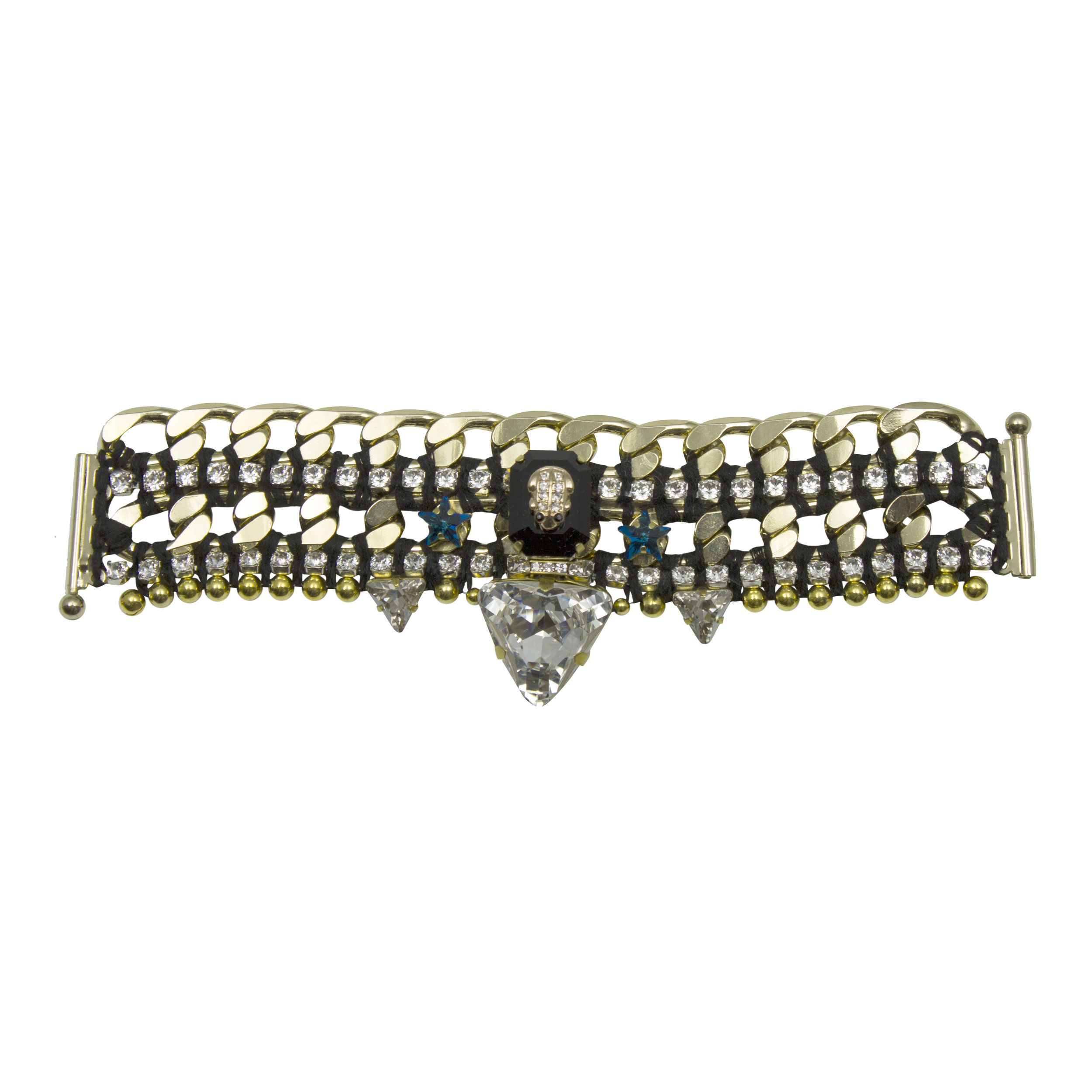 221B Black & Crystal Star Military Bracelet.jpg