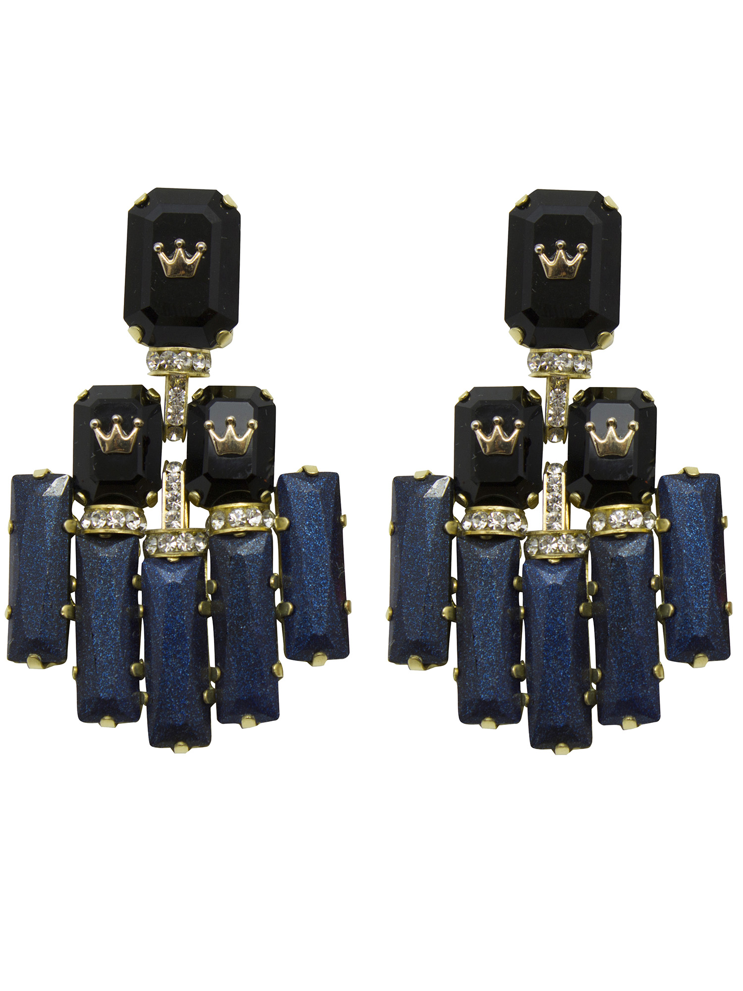 235E Black Triple Rectangle Deco Earrings.jpg
