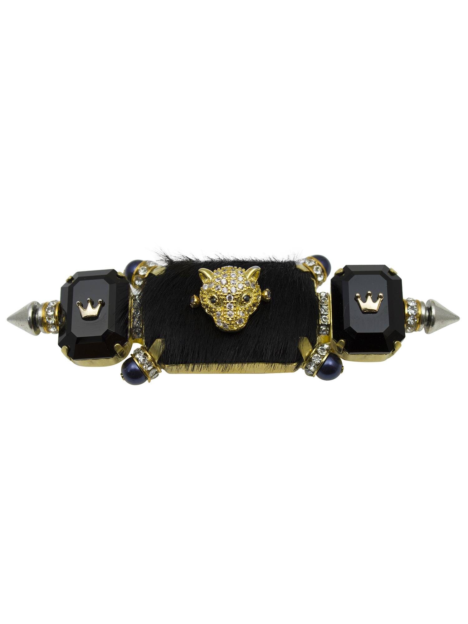 242R Black & Gold Triple Rectangle Knuckleduster Ring (1).jpg