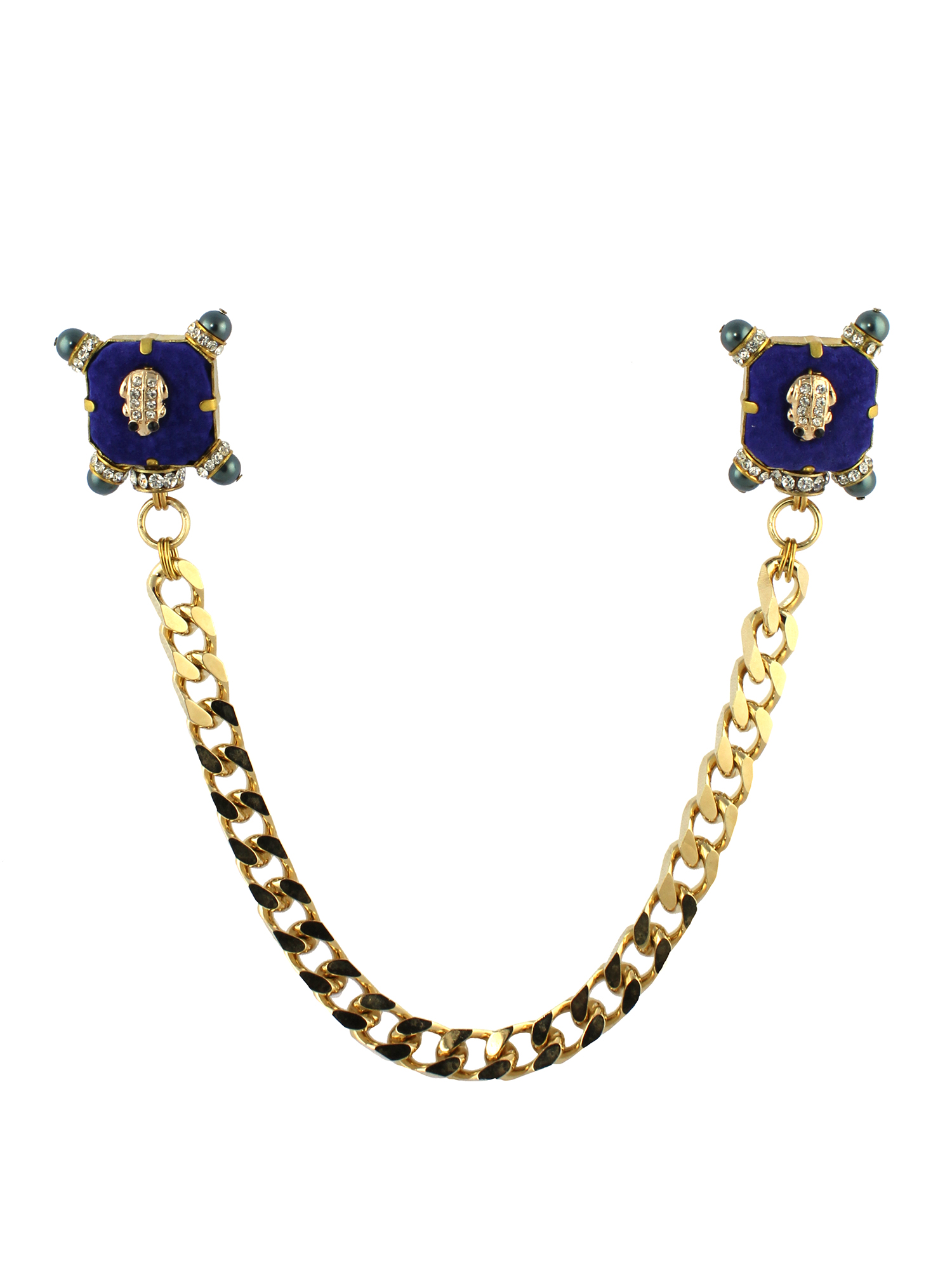 250BR Blue & Gold Military Double Brooch.jpg