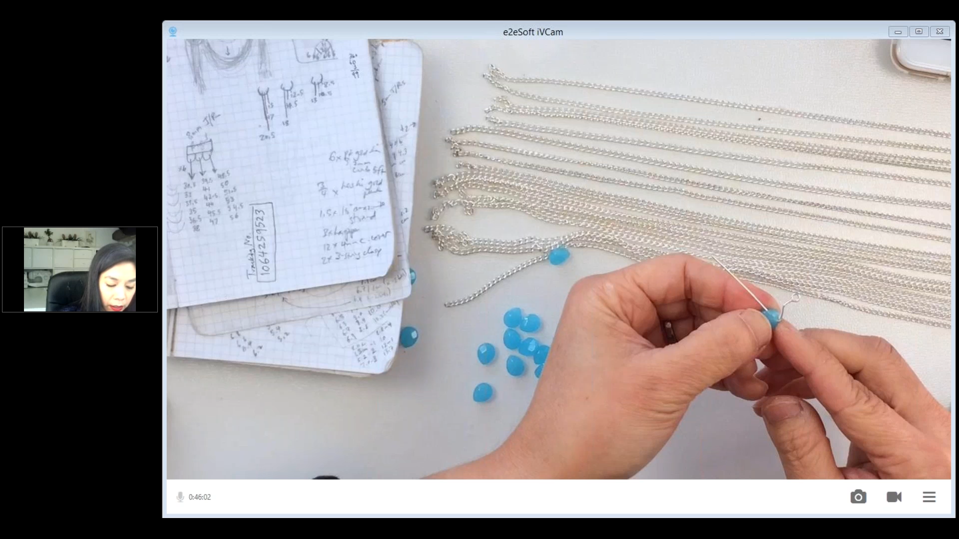 PART 4 - NECKLACE BOTTOM - MAKING HANGING DROPS WITH HEADPINS, PLUS - ALL THINGS CHAINS, MY BEGINNER PIECES AND Q&A