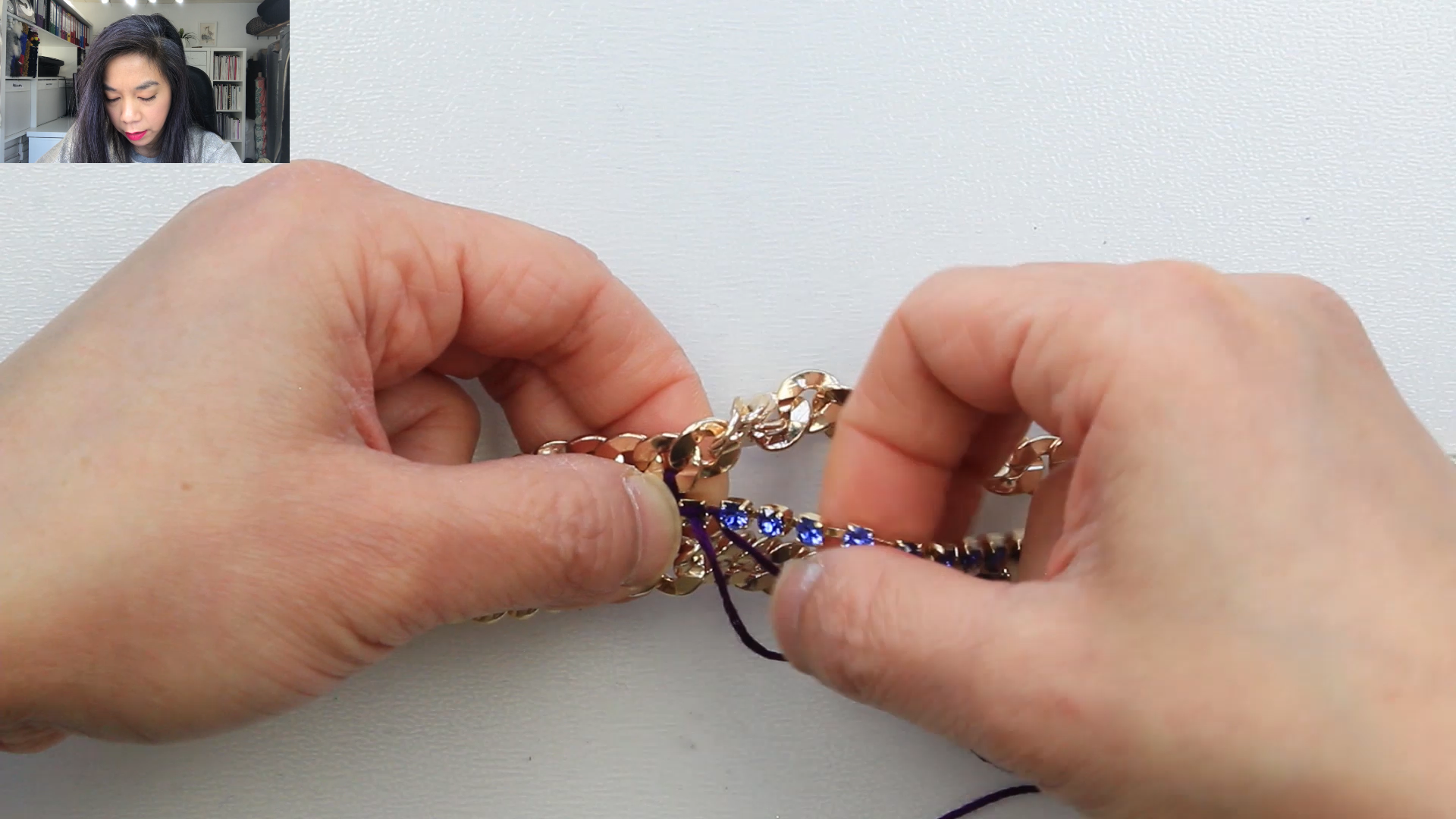 PART 4.1.2 - WEAVE STITCH - SINGLE ROW - CONNECTING A NEW THREAD - METHOD 2