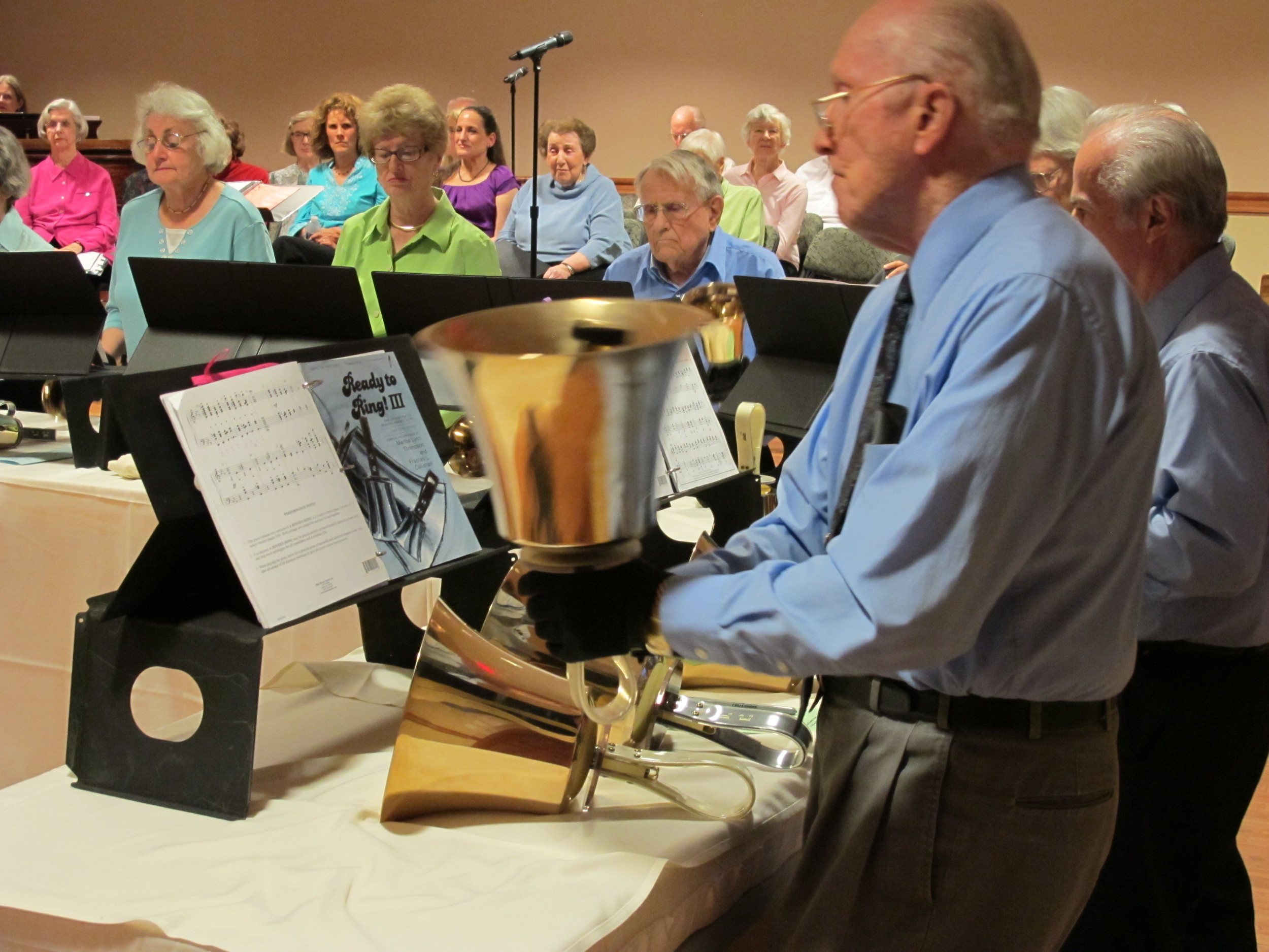 Bell Ringers giving a concert