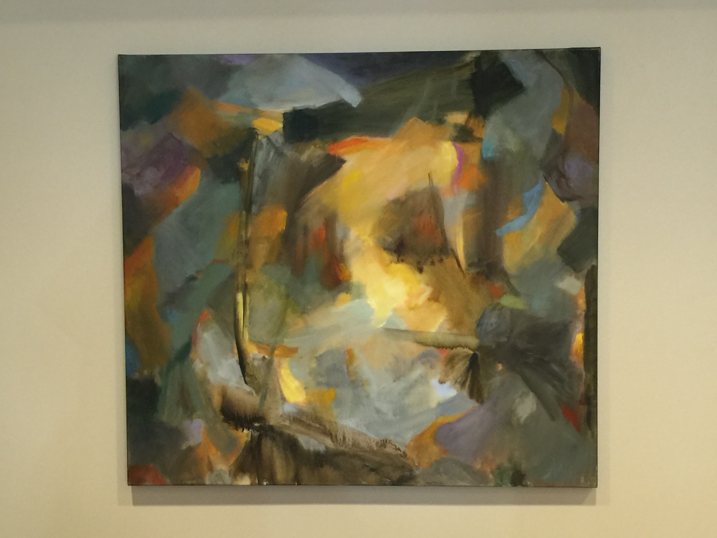 Photo of a painting by Kendal resident Ann Holloway selected by CAFA for the main lobby
