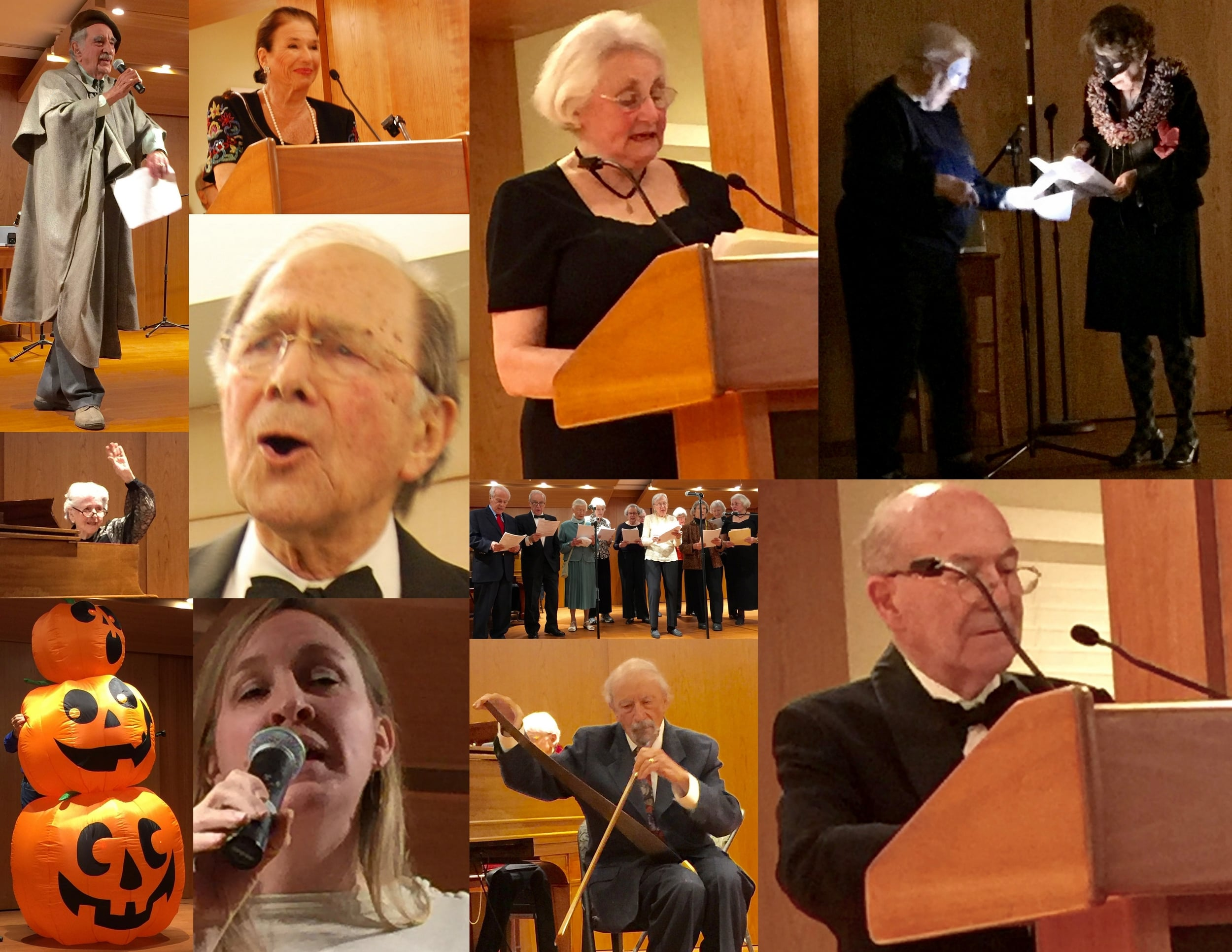 Collage of New Year's Eve Gala Skits