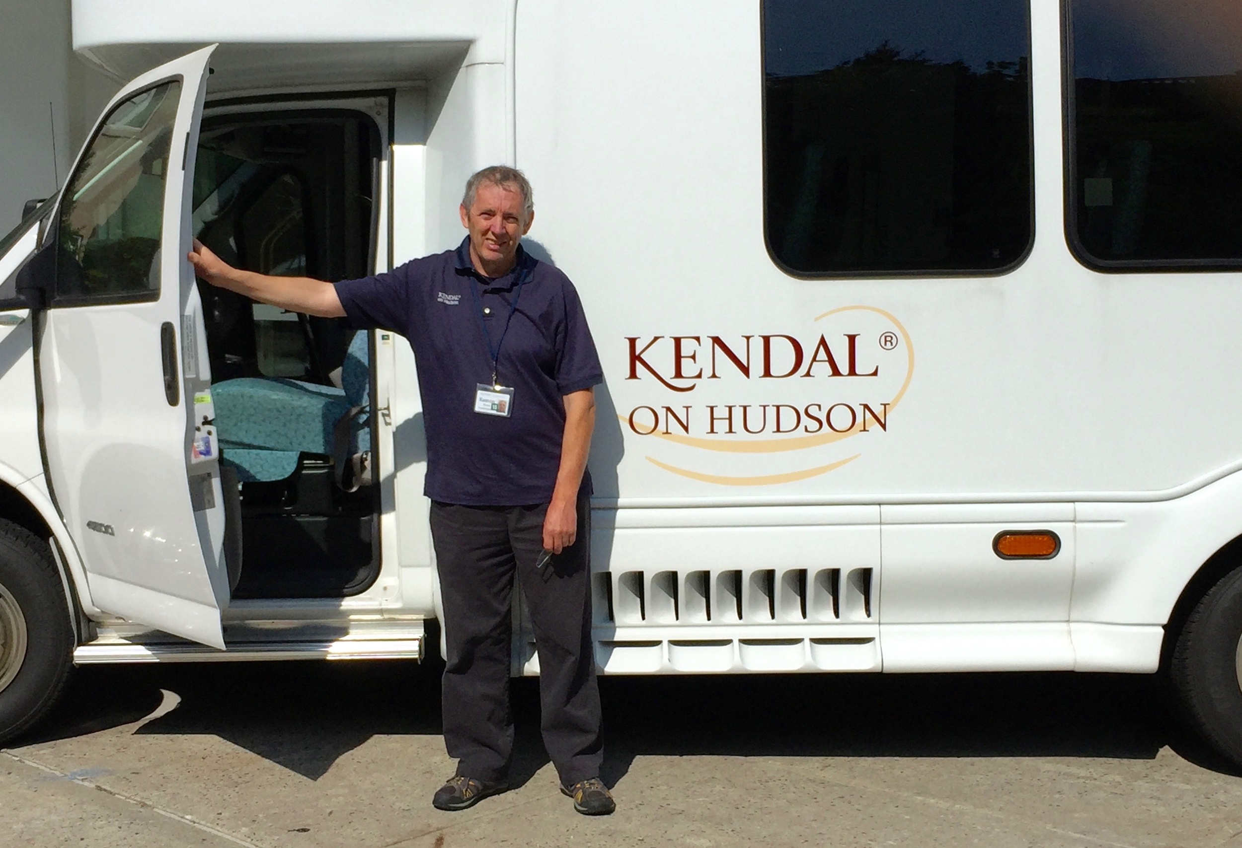 Eamon Byrne, Kendal driver since 2015, with one of the buses.