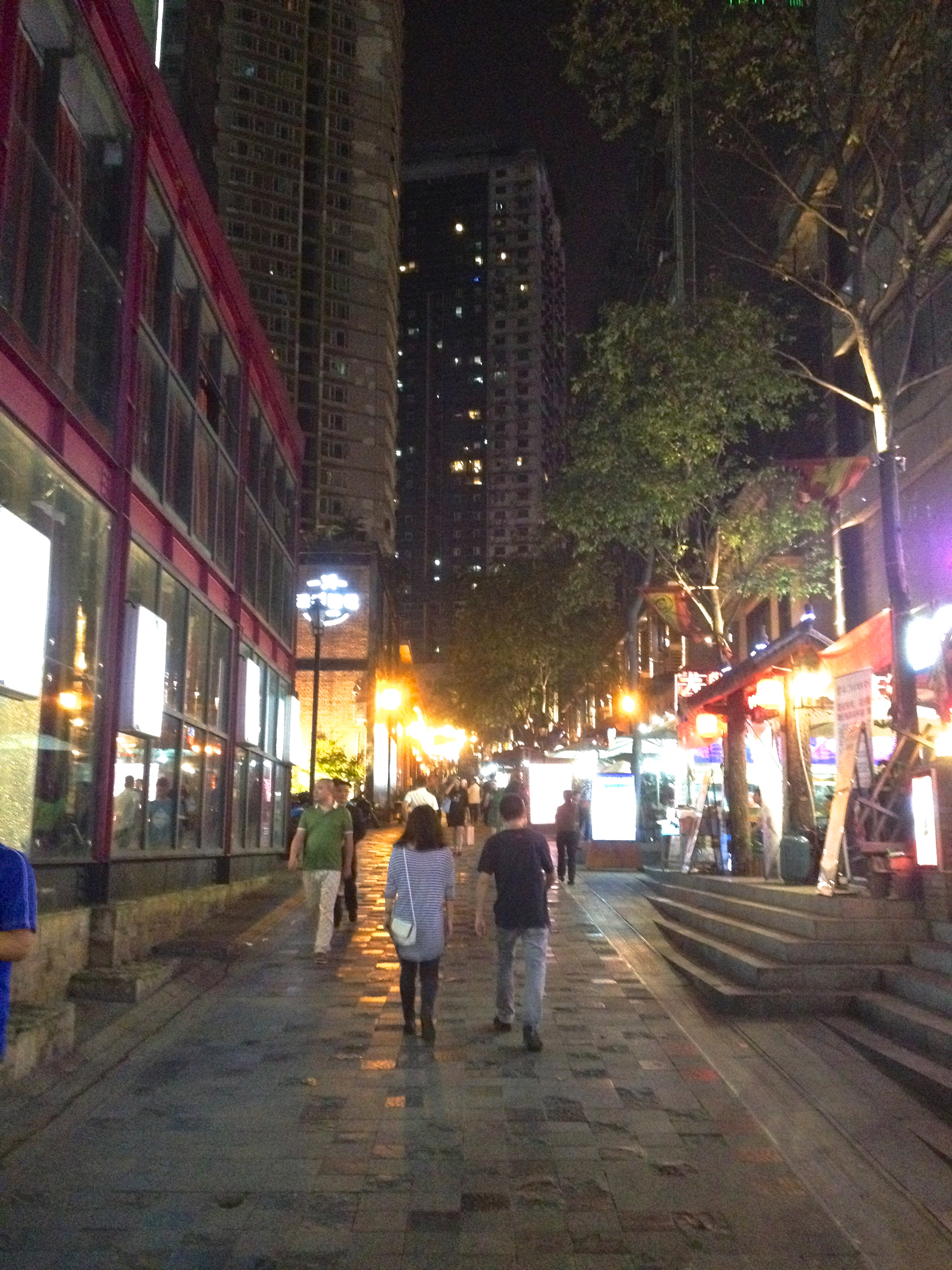 Restaurant area near Jiaochangkou.