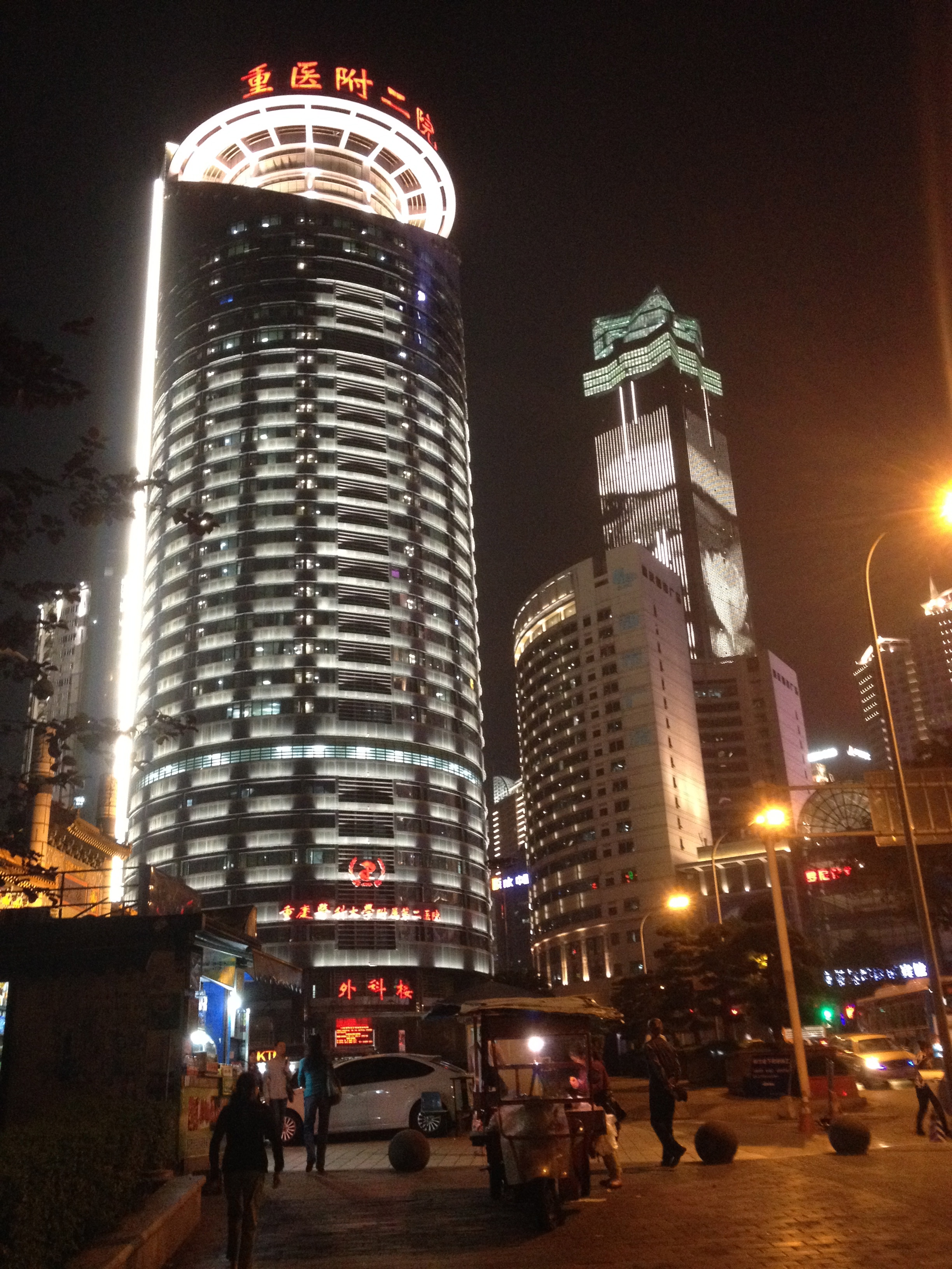 Downtown Jiefangbei.