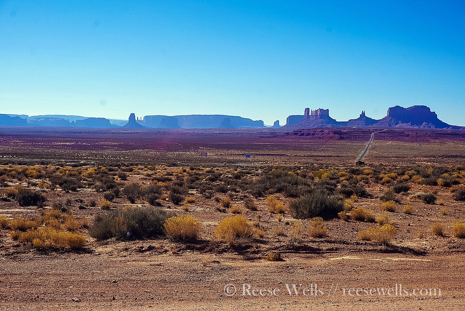 View en route to Monument Valley from Valley of the Gods.