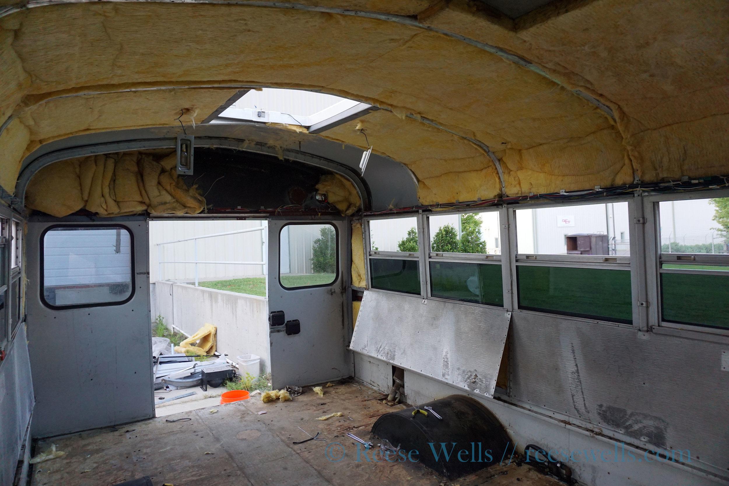 Pulling paneling & insulation.