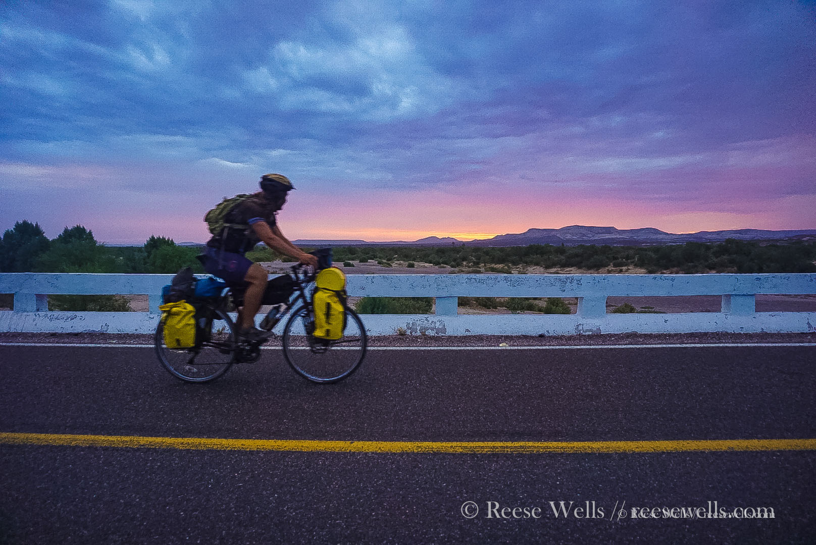 An epic sunrise on our ride into La Paz. This is one of the many reasons why we get up so early.
