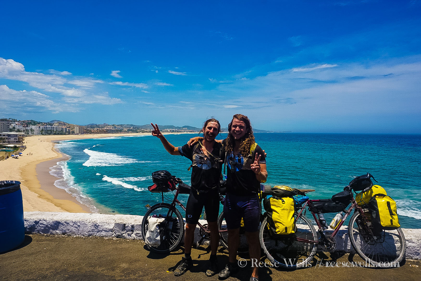 Arrival in San Jose del Cabo. The end of another tour. 15,000 miles together on the bike and still smiling.