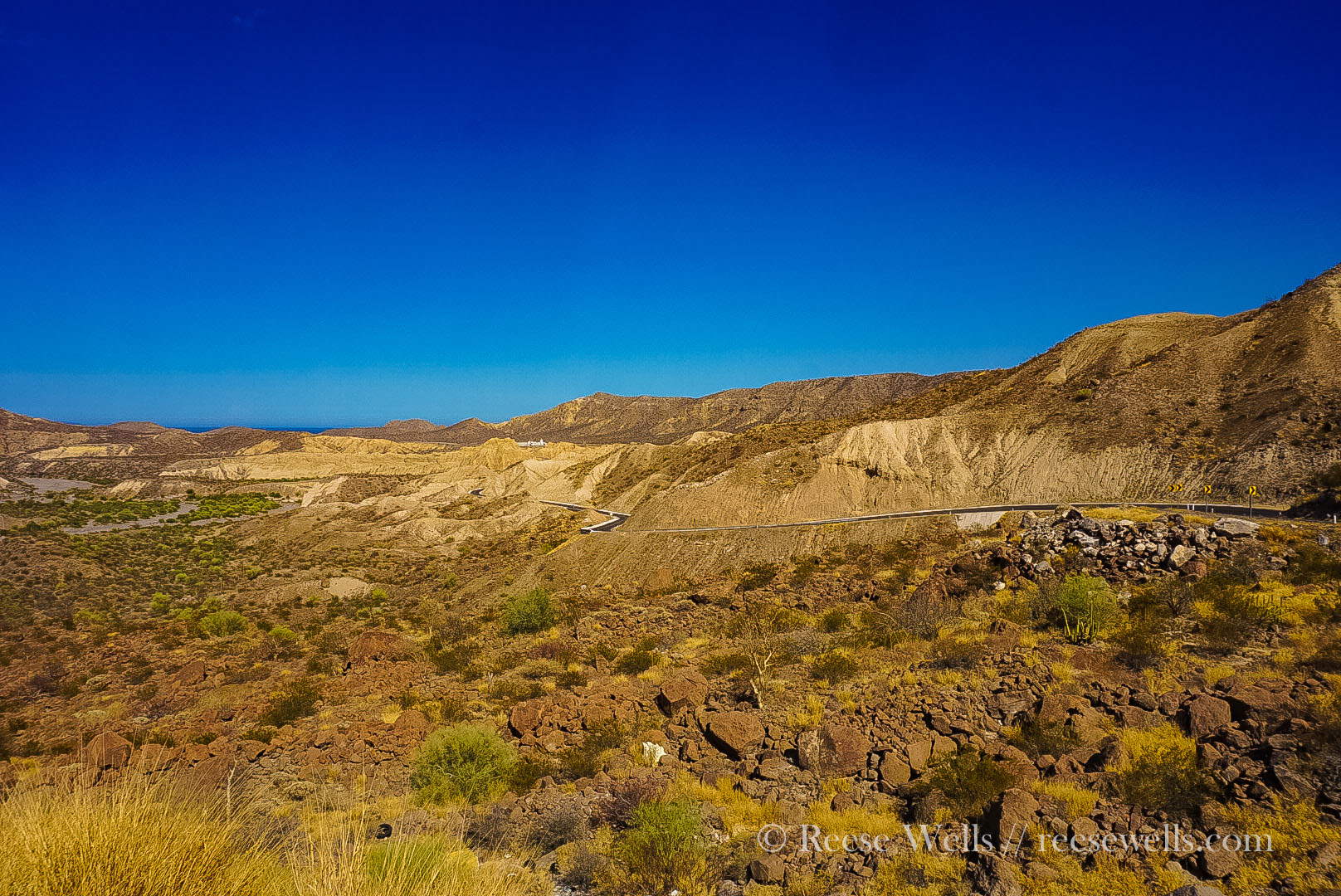 The descent into Santa Rosalia! Whee!