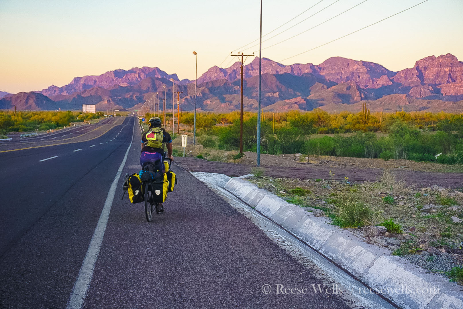 Leaving Loreto to C.C. - you climb up and over those purple puppies. Easier done than it looks. Enjoy!