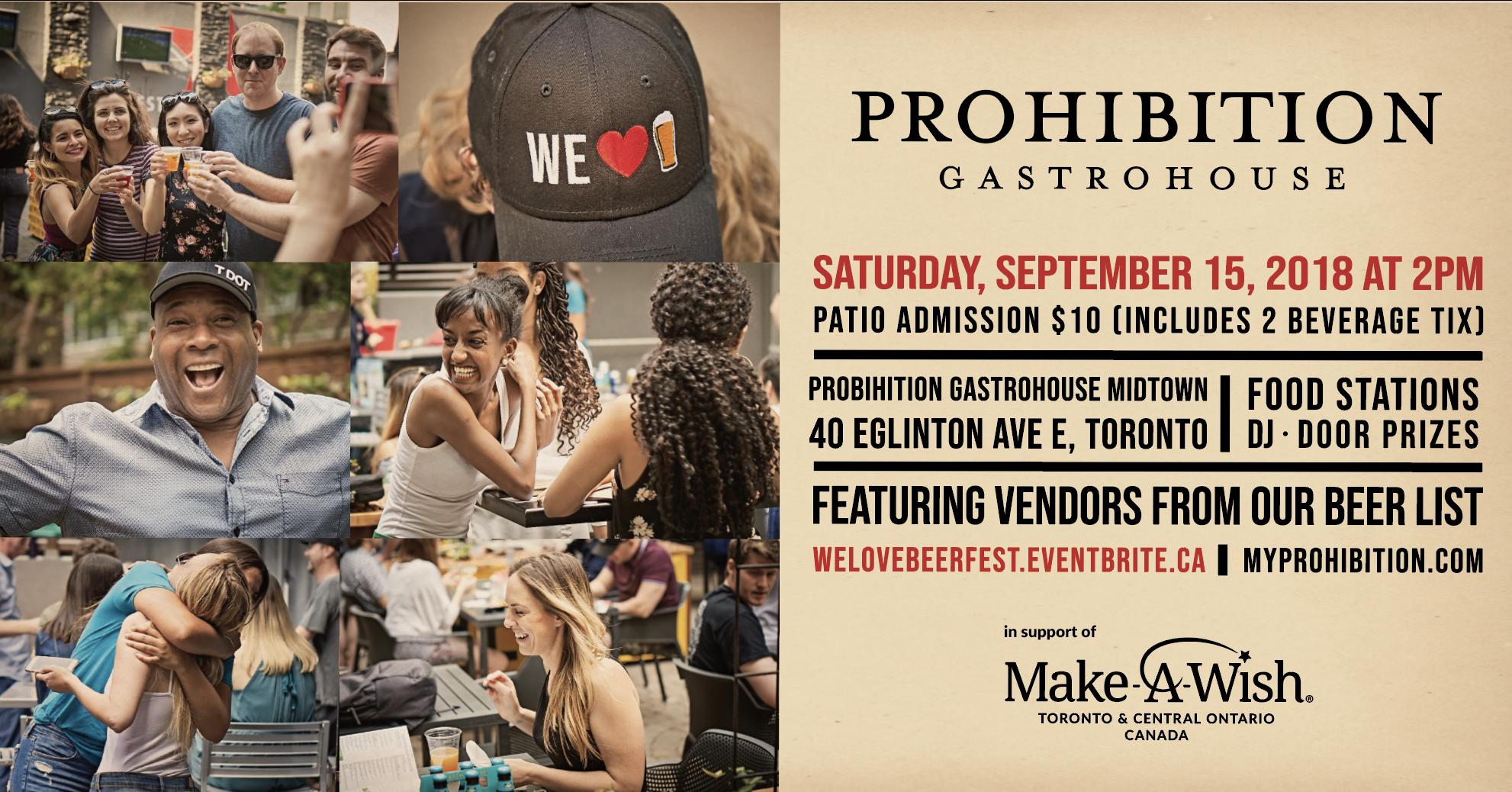 Prohibition Gastrohouse - WE LOVE BEER FEST, Toronto Beer Week 2018
