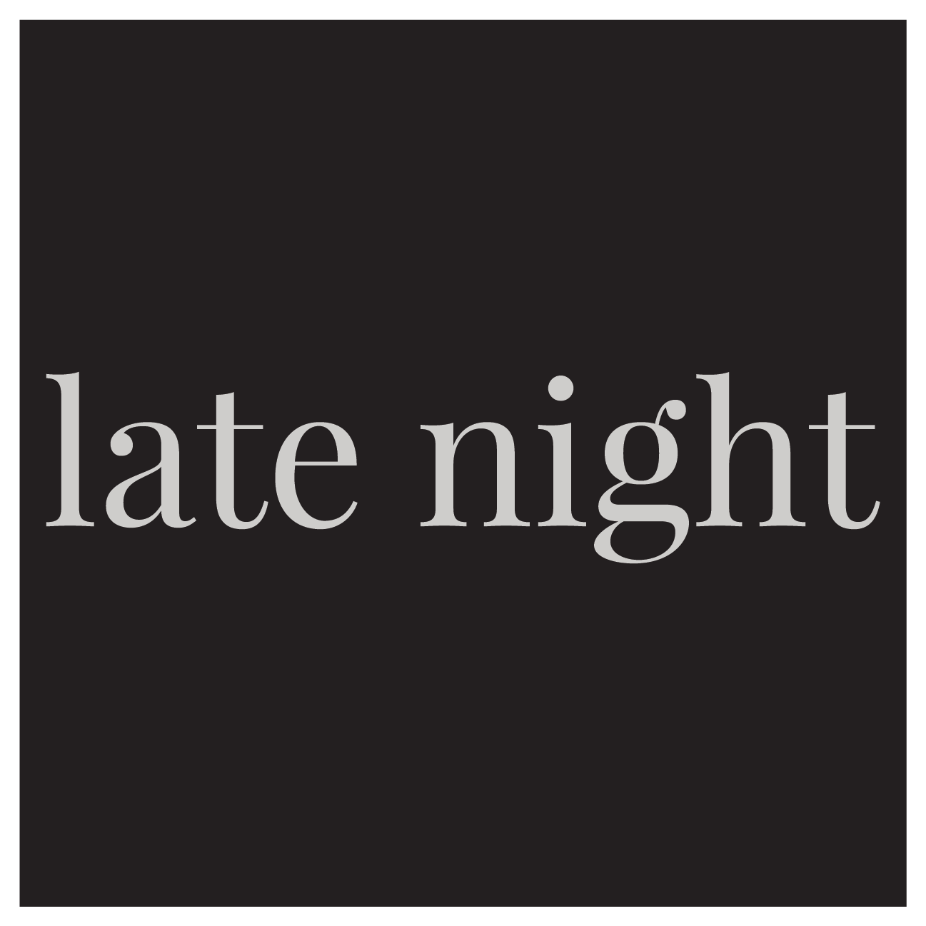 Prohibition Gastrohouse - Late Night Menu
