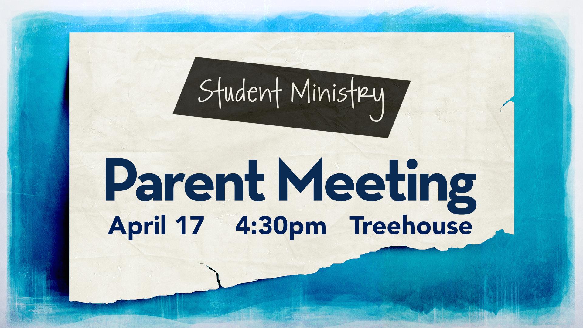 Parent Meeting - The Talk - April 17 @ 4:30pm