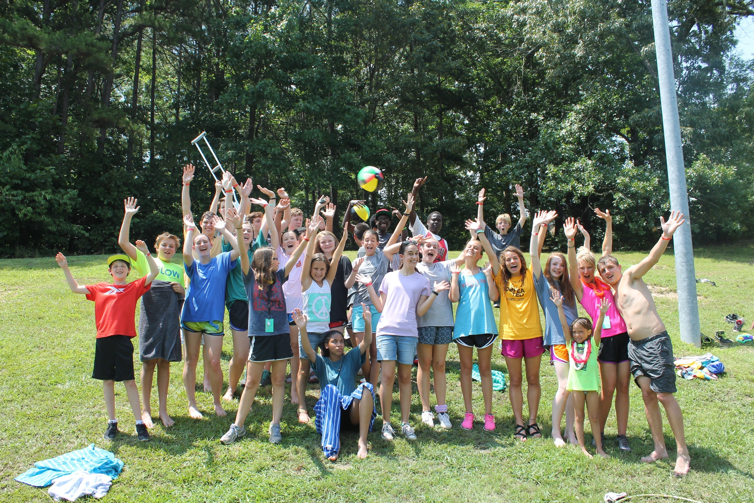 Rivertree students serving at a Boys & Girls Club during summer missions camp 2015