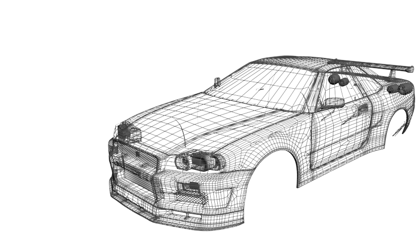 wireframe-car