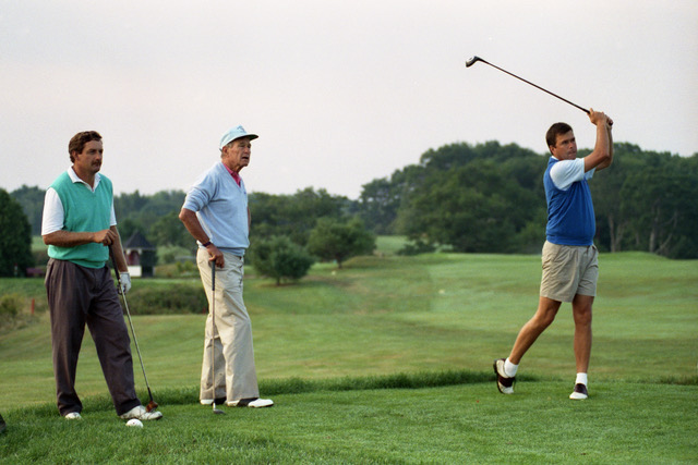 (Raynor, President George H. W. Bush and his son Jeb at Cape Arundel)