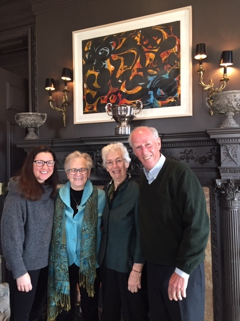 My daughter Alex, Robin's partner Shirley, The Elder and brother Robert before lunch.