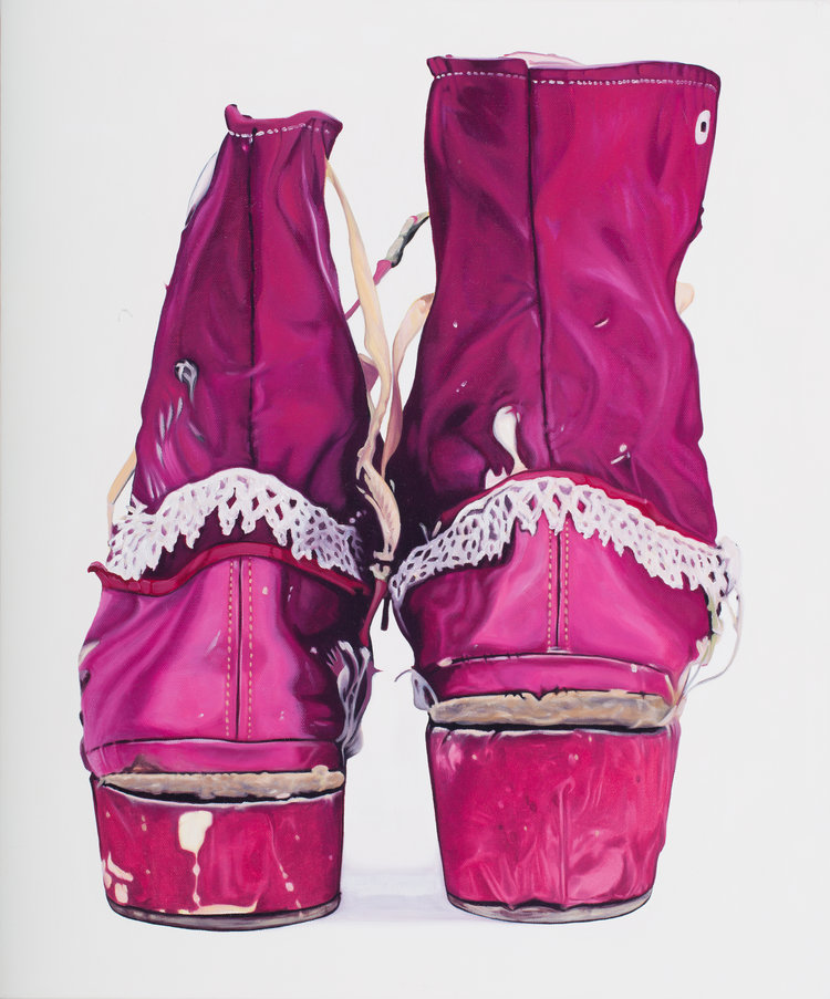 Shoes once worn by artist Frida Kahlo.