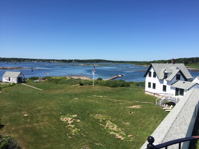 A view of Goat Island and Cape Porpoise (in the distance) from atop the lighthouse.