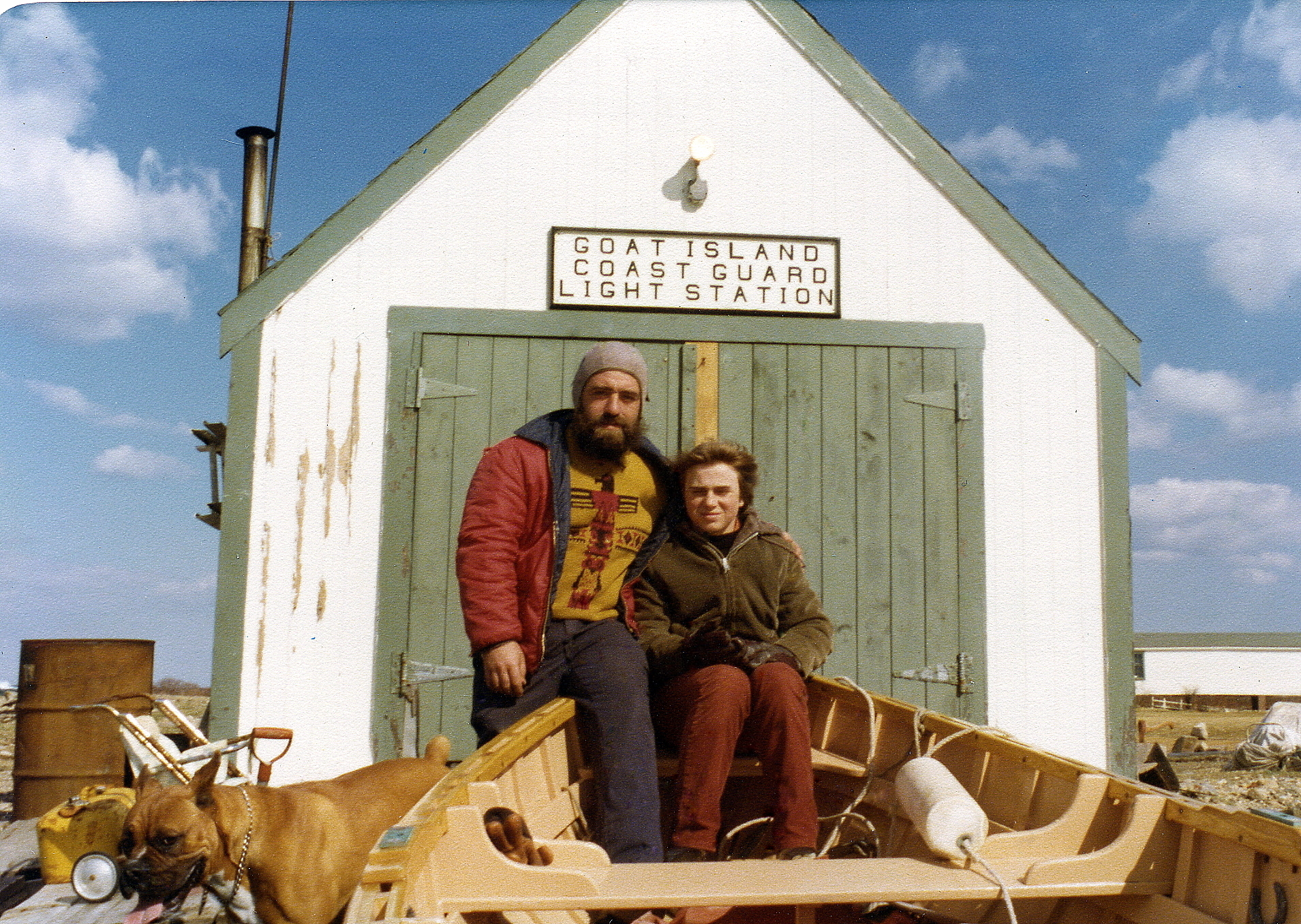 Goat Island Lighthouse keeper Marty Cain and his wife Mary in 1977.