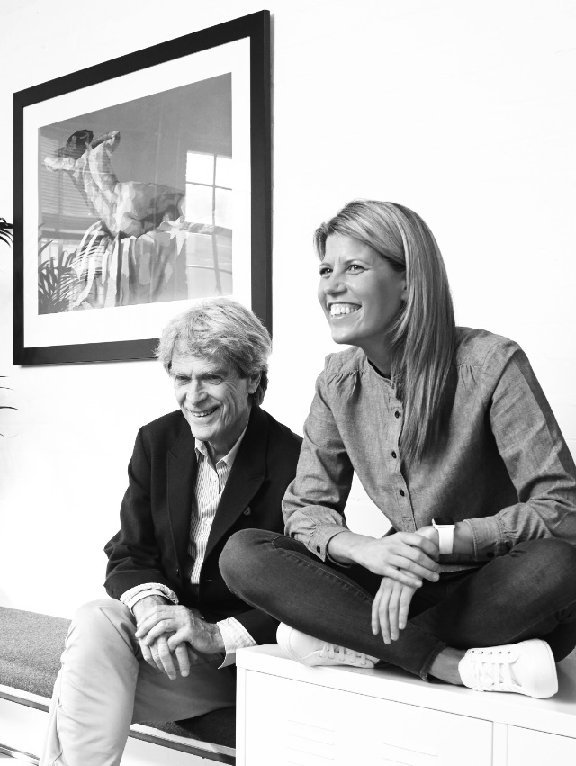 Pip Jamieson and Sir John Hegarty
