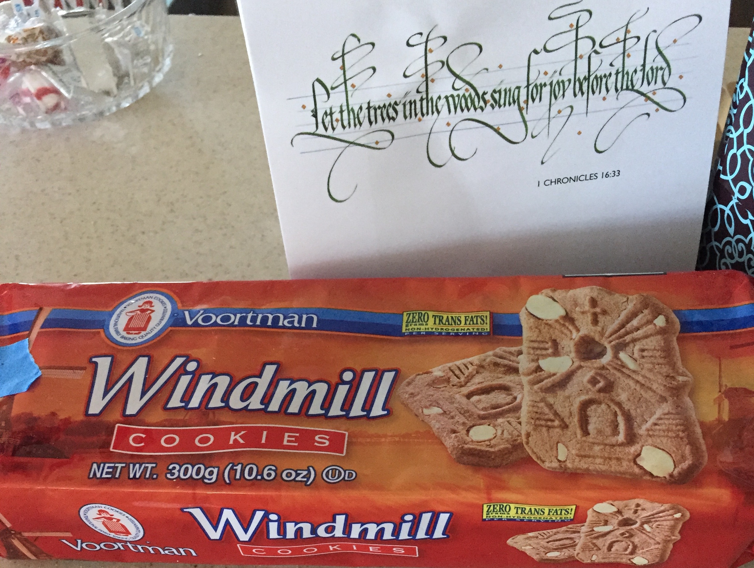 Every Tuesday, after my teaching day, Gram Pett and I would share tea and windmill cookies.