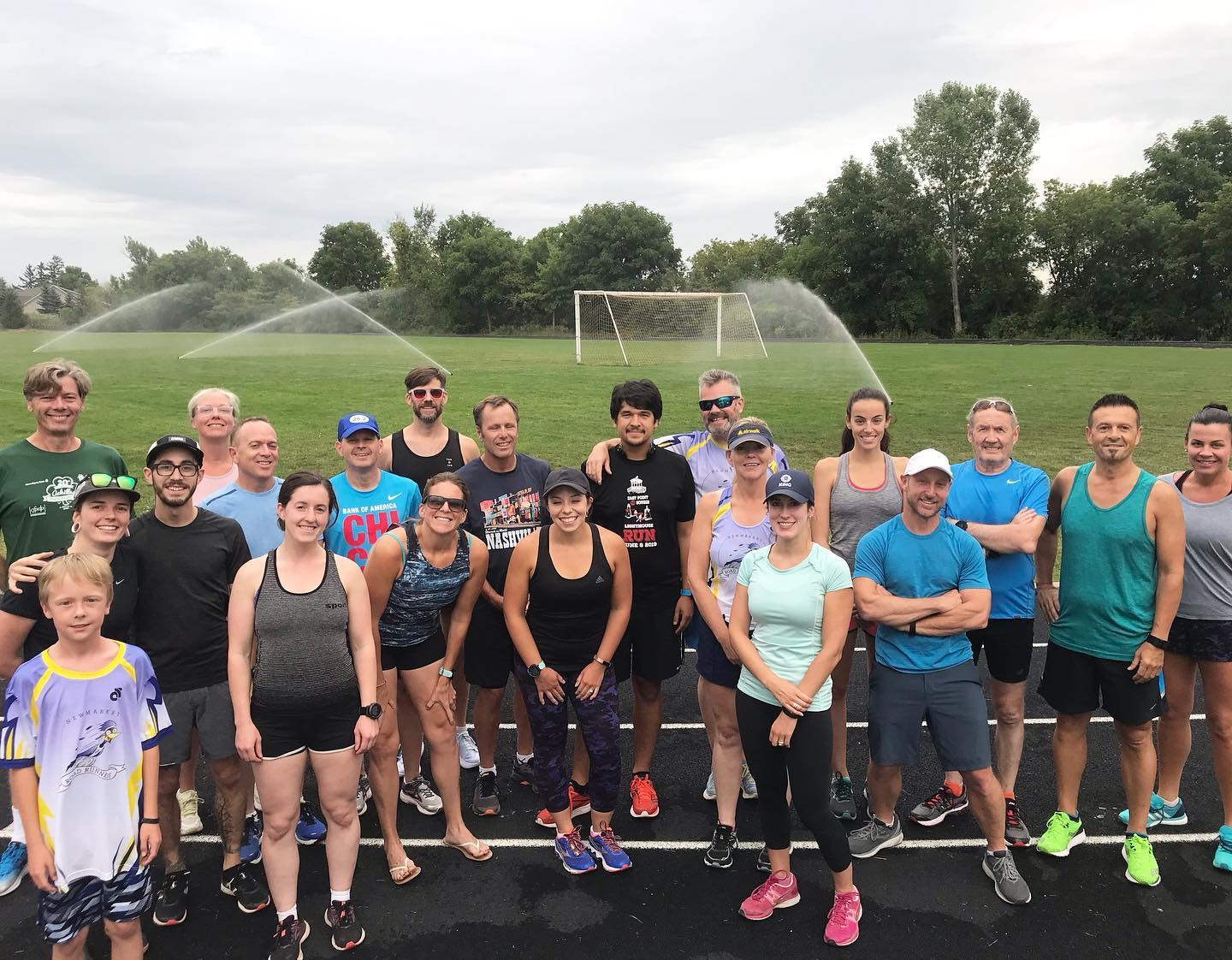 one of may track nights for speed work with the newmarket road runners.
