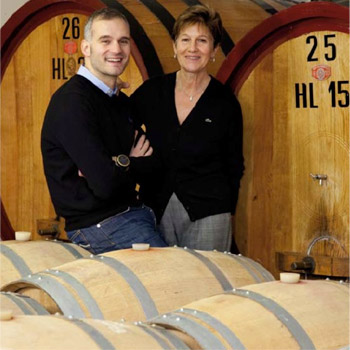 Simone Secchi and his mother, winemaker Ivana Adami