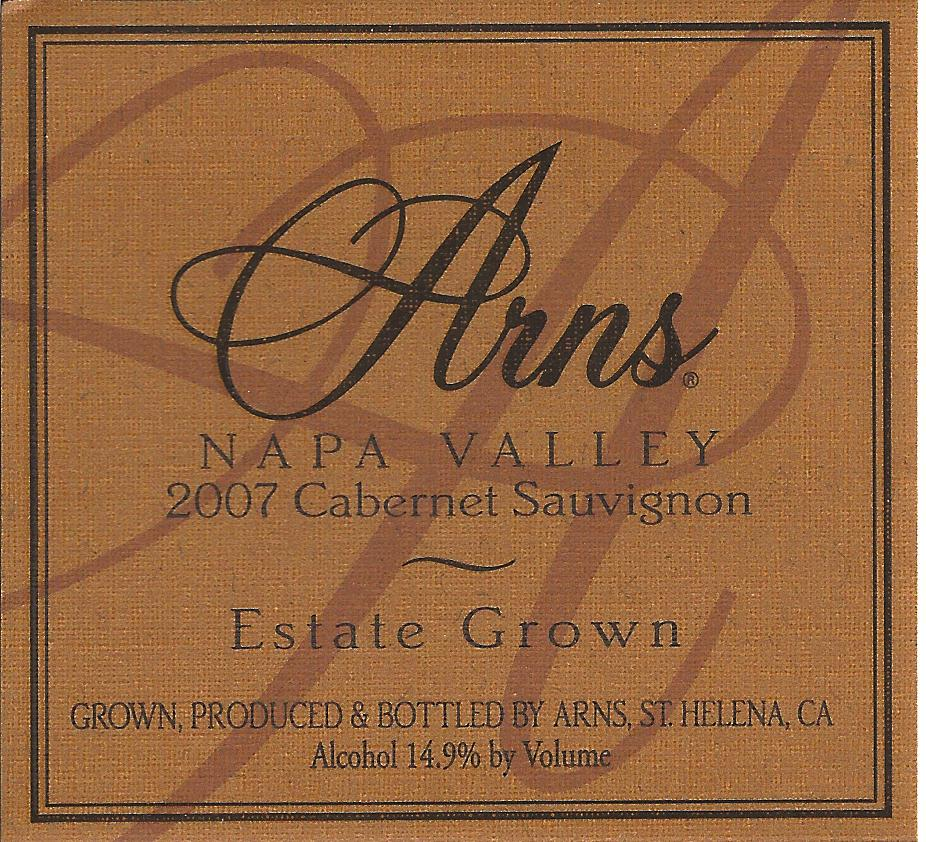 2007 Arns Estate Grown Cabernet Sauvignon Label.jpg