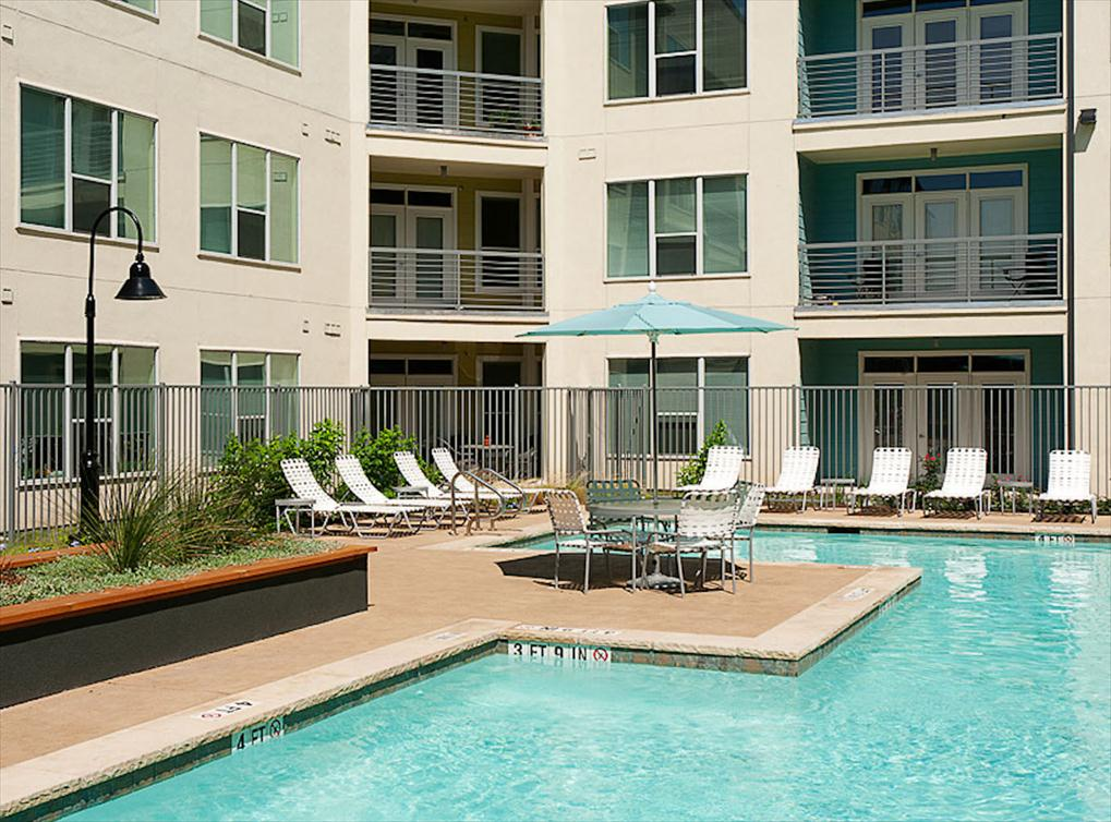 TWO COURTYARD POOLS