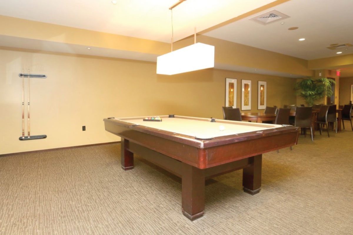 CLUBROOM WITH BILLIARDS