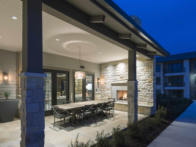 Open-Air Dining Porch w/ Fireplace