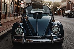 VW Bug in Downtown Bentonville