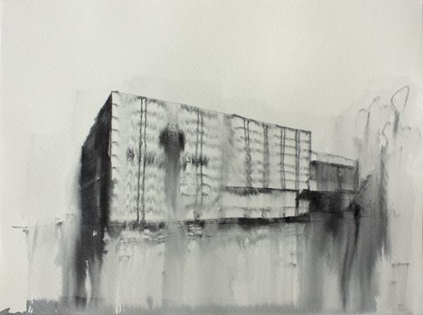 Fantasmagoría II  , 2012, tinta sobre papel, 30 x 40 cm.