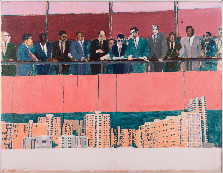 Ante el futuro 1    ,  2015, óleo sobre tela,70 x 90 cm.