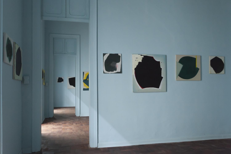Aforismos  , 2014-2015, varios materiales sobre tela.