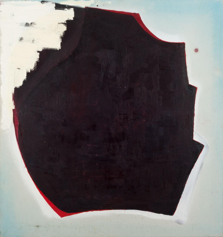 Aforismo 11-A  , 2014, óleo, acrílico, témpera y pintura en aerosol sobre tela, 80 x 85 cm.