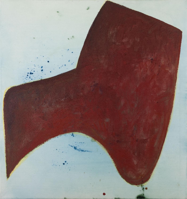 Aforismo 54-C  , 2015, acrílico, acuarela y tiza sobre tela, 64 x 60 cm.