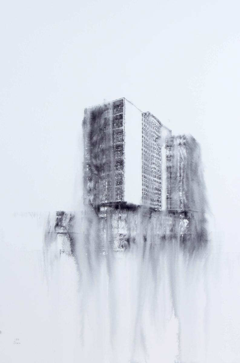 Fantasmagoría XLIII  , 2013, tinta sobre papel, 70 x 50 cm.