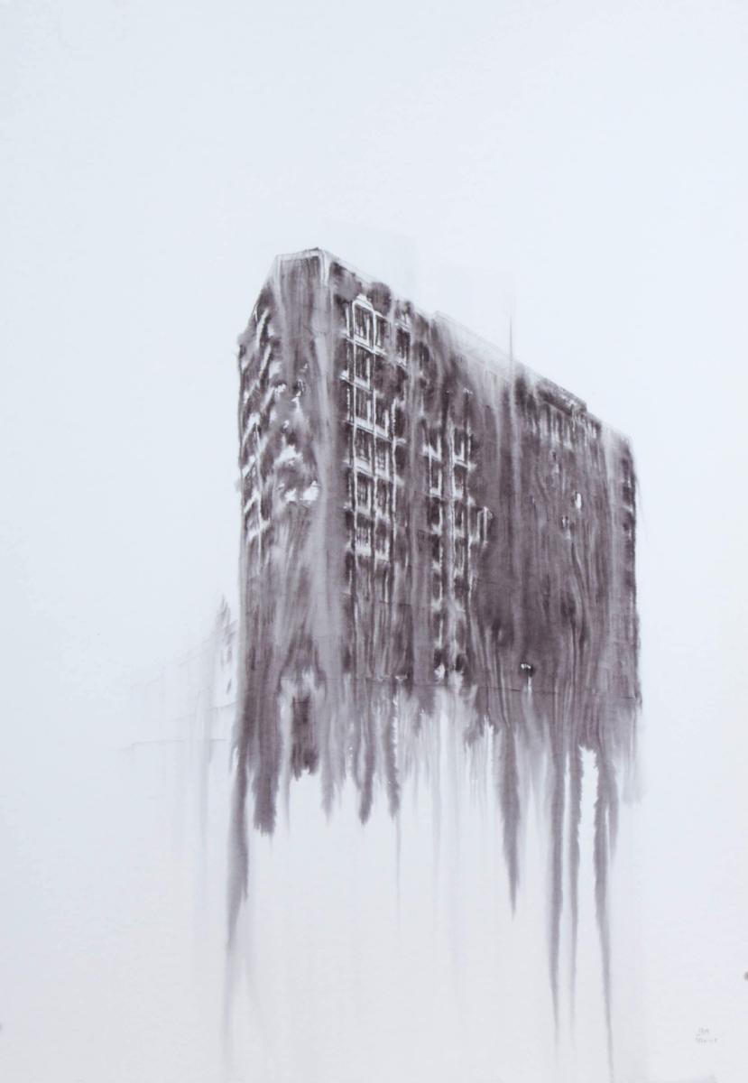 Fantasmagoría XLIX  , 2013, tinta sobre papel, 70 x 50 cm.