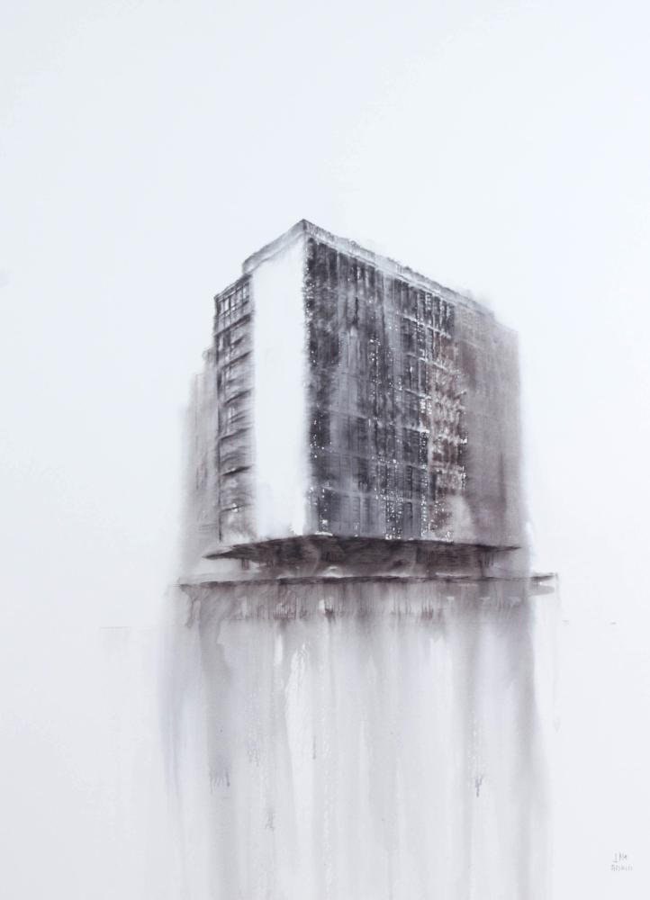 Fantasmagoría XLIV  , 2013, tinta sobre papel, 70 x 50 cm.