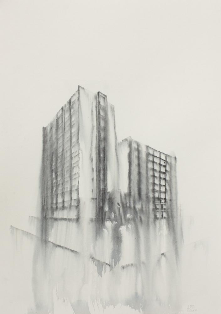 Fantasmagoría XXXI  , 2012, tinta sobre papel, 31 x 23,5 cm.