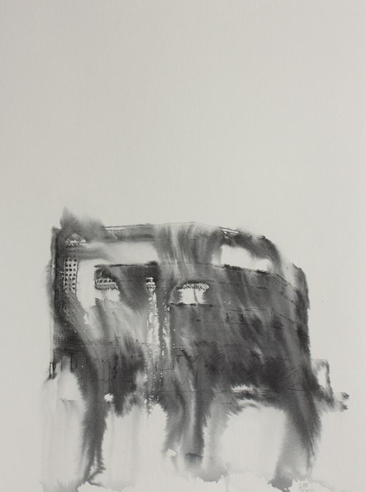 Fantasmagoría XXVI  , 2012, tinta sobre papel, 31 x 23,5 cm.