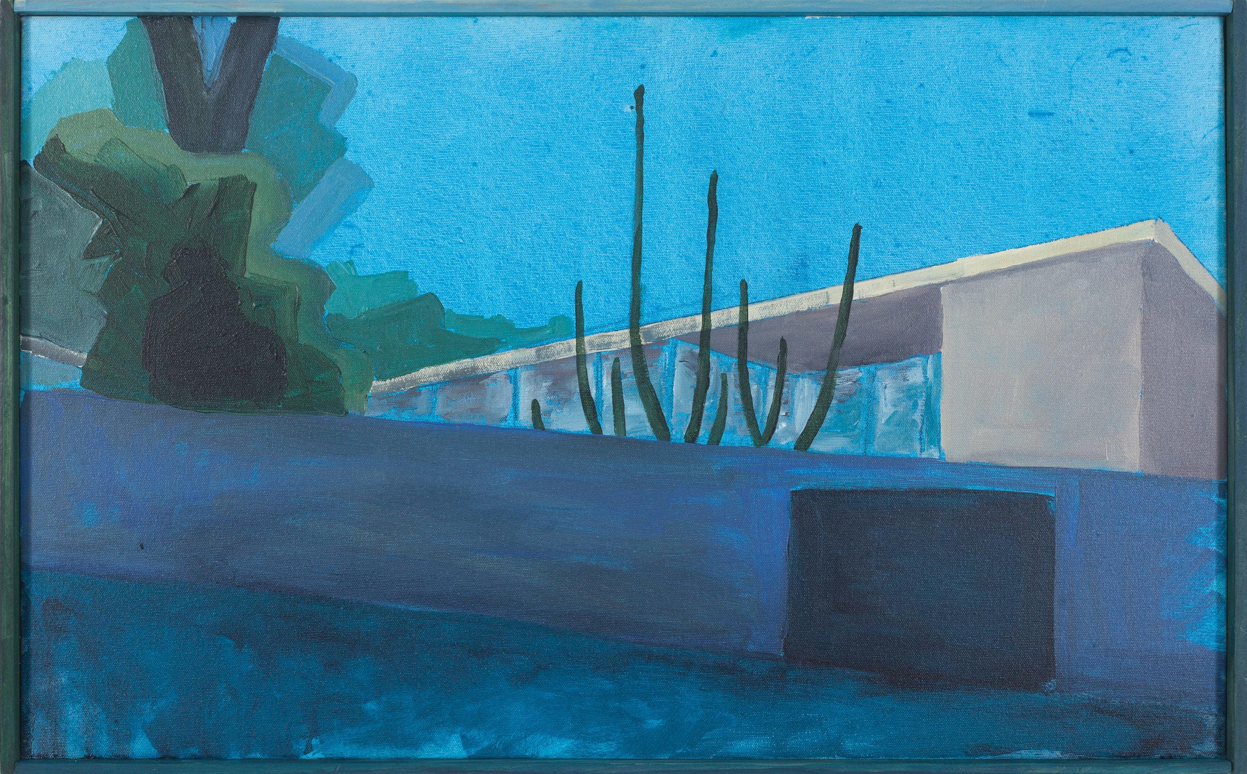 Vivienda privada 1949-III  , 2017, acrílico sobre tela, 43 x 70 cm.